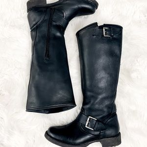 Call it Spring Leather riding knee boots size 6